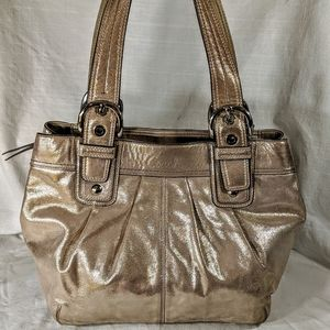 Coach Shimmery Gold Purse